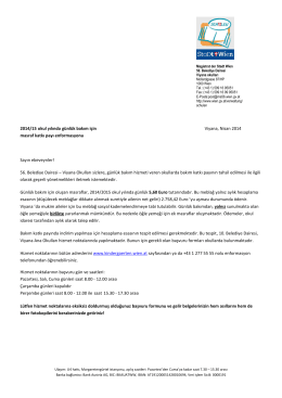 Elterninformation Kosten Tagesbetreuung SJ 2014