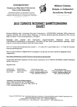 2015 TURKIYE INTERNET SAMPiYONASINA