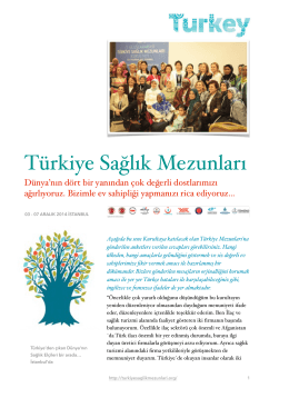 SAĞLIK MEZUNLARI ÇALIŞMASI - 2. uluslararası türkiye sağlık