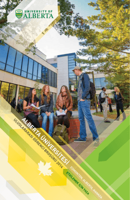 ALBERTA ÜNİVERSİTESİ - International Undergraduate Students