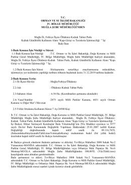 T.C. ORMAN VE SU İŞLERİ BAKANLIĞI IV. BÖLGE