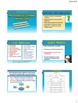 4. Program Geliştirme Modelleri ve Planlama