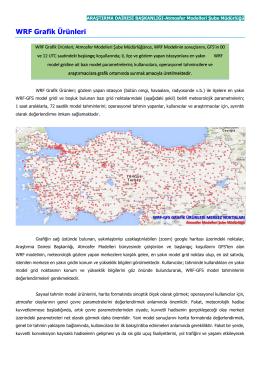 WRF Grafik Ürünleri - Meteoroloji Genel Müdürlüğü