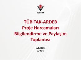 ARDEB Proje Harcamaları