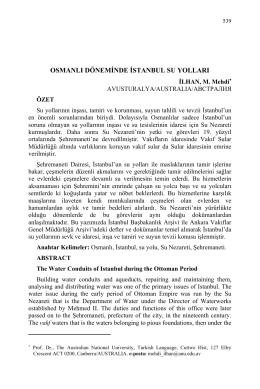 İLHAN, M. Mehdi-OSMANLI DÖNEMİNDE İSTANBUL SU