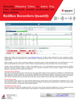 RedBox Quantify Motorola Entegrasyon
