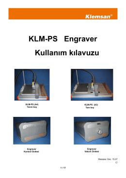 KLM-PS Engraver Kullanım kılavuzu