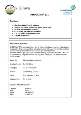 RHODUNA® 271 - Galtek Kimya