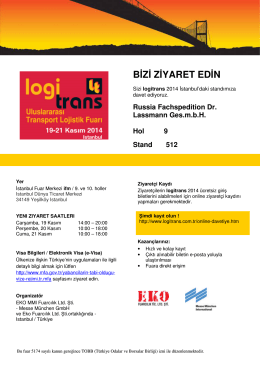 Visitor Invitation logitrans TR Russia Fachspedition
