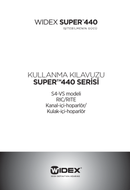 kullanma kılavuzu super™440 serisi