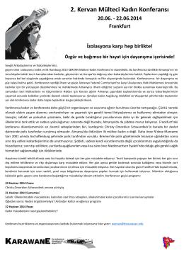 2. Kervan Mülteci Kadın Konferansı 20.06.