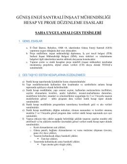 GES İnşaat Proje Dosya Formatı( Saha)