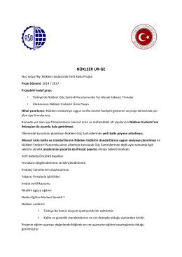 NÜKLEER UR-GE - Ankara Sanayi Odası