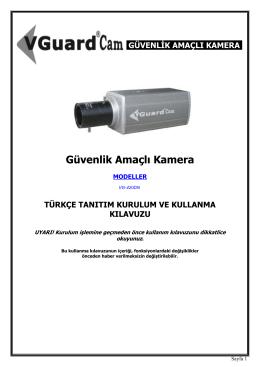 Güvenlik Amaçlı Kamera