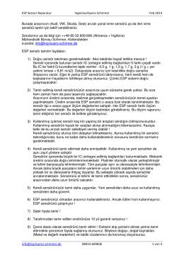 TÜRK Reparatur ESP Sensor FEB 2014
