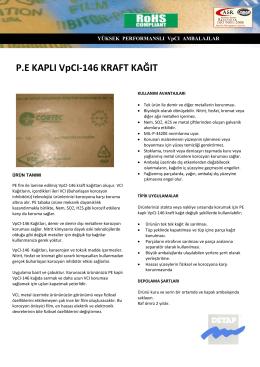 P.E KAPLI VpCI-146 KRAFT KAĞIT