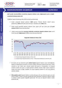 2011 ıv. çeyrek strateji raporu makroekonomik gelişmeler 24/09/2014