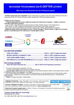 muhasebe programınız için e-defter çevirici
