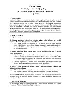 BT0205 - Mobil İletişim İçin Heterojen Ağ Teknolojileri