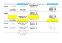 2014-2015 güz dönemi uçak teknolojisi 1.sınıf ders programı