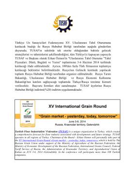 Türkiye Un Sanayicileri Federasyonu XV. Uluslararası