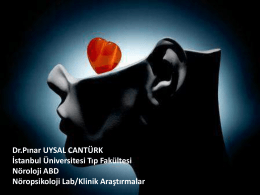 Pınar UYSAL CANTÜRK - İ.Ü. İstanbul Tıp Fakültesi