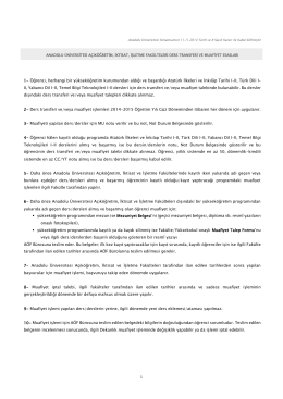 Anadolu Üniversitesi Açıköğretim, İktisat, İşletme Fakülteleri Ders