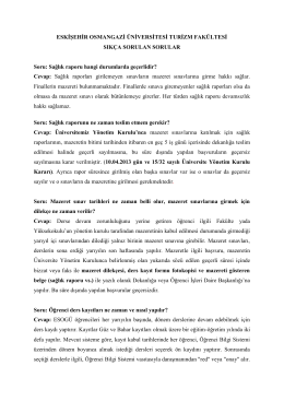 Sıkça Sorulan Sorular - Osmangazi Üniversitesi