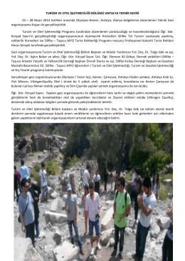 Turizm ve Otel İşletmeciliği Bölümünün Antalya Gezisi
