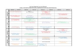 2014-2015 Güz Dönemi Ders Programý