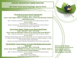GREEN EARTH - Akdeniz Üniversitesi