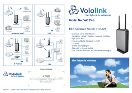 3G+ Kablosuz Router + 4 LAN Model No: VA125-S