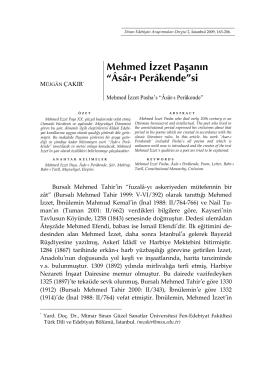 Âsâr-ı Perâkende - Divan Edebiyatı Araştırmaları Dergisi