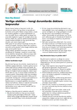 Vertigo atakları – hangi durumlarda doktora