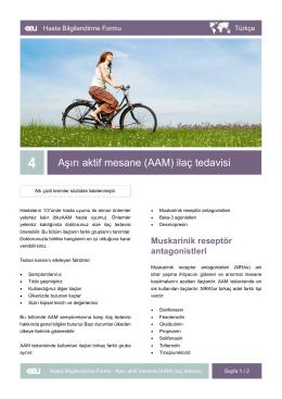 Aşırı aktif mesane (AAM) ilaç tedavisi