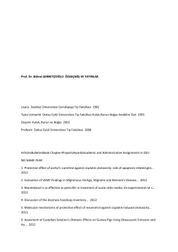 Özgeçmiş ve yayınlar - Dokuz Eylül Üniversitesi