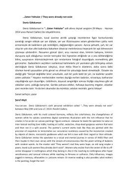 BASIN BÜLTENİ (pdf) - RenArt Sanat Galerisi