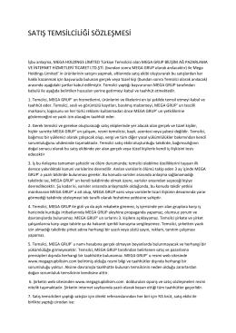 satış temsilciliği sözleşmesi