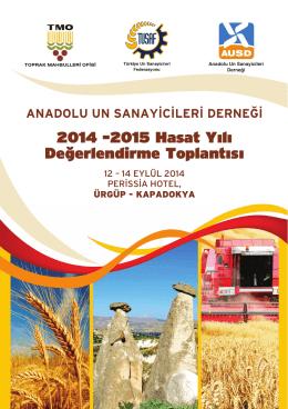 Davetiye ve Program - Anadolu Un Sanayicileri Derneği