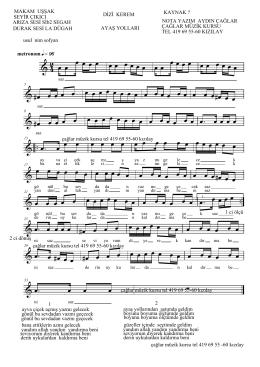 AYAŞ YOLLARI sanat müziği.MUS