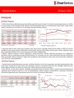 19 Kasım 2014 tarihli piyasa yorumu