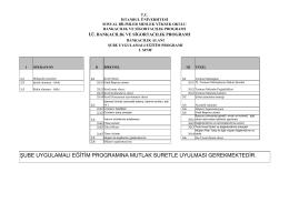 Uygulama Programı Banka - Sosyal Bilimler Meslek Yüksekokulu