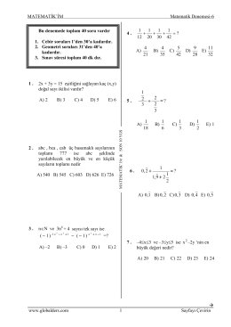 matematik seri denemeleri-6