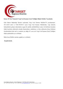 Sirküler 2015/7 - target denetim