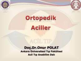 Ortopedik Aciller - Acil Tıp Anabilim Dalı