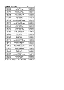numara soyad-ad not 21293026 ak deniz 14,51666667 21093054
