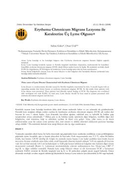 Erythema Chronicum Migrans Lezyonu ile Karakterize Üç Lyme