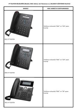 IP TELEFON BİLGİLERİNİ (Modeli, MAC Adresi, Seri Numarası vs