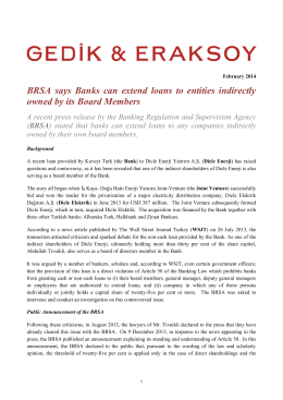 BRSA Announcement regarding Banks Granting Loans to Board