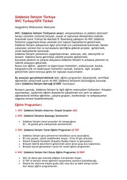 Şiddetsiz İletişim Türkiye NVC Turkey/GFK Türkei